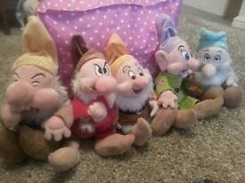 Genuine Disney store snow whites dwarfs