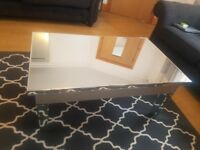 Coffee table - mirrored