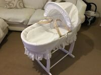 NEW Moses basket and rocking stand