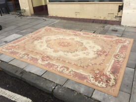 Large Rug - size 9.5 ft x 6.5 ft - free local delivery feel free to view 116 in x 80 in