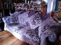 4 piece DFS Amethyst Lounge Suite 3/4 yrs old VGC bargain