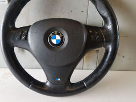 BMW E90 E91 E92 3 SERIES GENUINE COMPLETE M SPORT STEERING WHEEL WITH AIRBAG AND MULTIFUNCTION