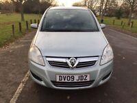 2009 Vauxhall Zafira 1.6 i 16v Exclusiv 5dr MOT History + HPI CLEAR @07445775115@
