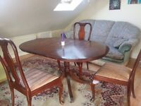Dining table with 4 chairs for free!