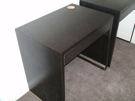 Ikea MICKE desk. black/brown. 73x50cm Hardly used. in v.good condition. 2 available.
