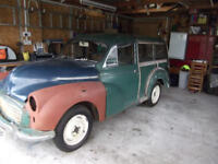 Renovation project started but unable to finish - Morris 1000 Traveller (plus 2nd car for spares)