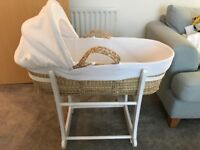 Beautiful Large Moses Basket and Stand