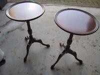 Small Circular Mahogany Pedestal Tables