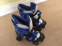 'No Fear' Blue Roller Boots