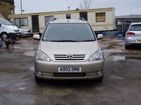 2002 TOYOTA AVENSIS VERSO GLS 2.0 PETROL AUTOMATIC 7 SEATER LONG MOT AND SERVICE HISTORY