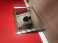 Large mirror - silver coloured frame