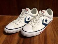 Converse Star Player white trainers/shoes, size 9