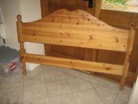 Pine double bed base and single futon base. No mattresses