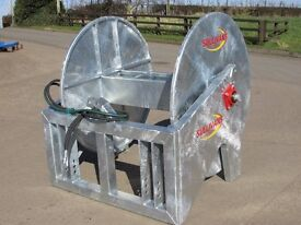 Tractor mounted Slurry reeler, umbilical system