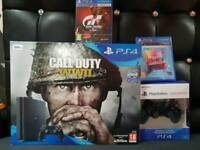 Sony Playstation 4 PS4 Slim 500gb Jet Black, Brand New Boxed and Sealed UK Official.