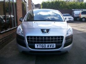 PEUGEOT 3008 ACTIVE HDI. 1560cc. 62329 Miles. Air Con, Electric Windows, Electric Mirrors. Radio/CD