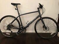 Used 2015 Whyte Portobello mens hybrid road bike - metallic grey