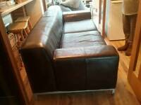 Ikea kamphors 3 seater leather sofa