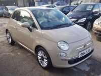 Fiat 500 1.2 Lounge 3dr£5,495 p/x welcome FREE 1 YEAR WARRANTY, NEW MOT