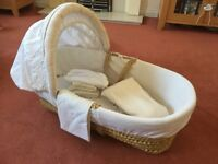 Mothercare moses basket and stands