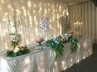 EVENT-STYLING - Wedding Breakfast\Evening reception Styling\Dressing\Decor