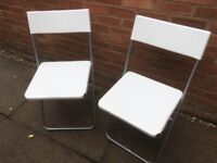 Camping Chairs White Folding as New