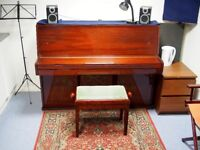 *Soundproof* Music Practice Room/Production/Rehearsal Studio c/w acoustic piano, day + evening slots