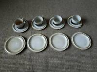 Dunoon Ceramics Cups Saucers and Plates x4