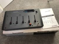 Genexxa 4 Channel Plus Mic Mixing Desk with Analogue VU Meters, Boxed Mint