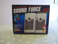 Quickshot Soundforce 600 computer stereo speakers – pair