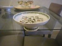 PAIR of PORTMEIRION COMPORT DISHES. BOTANICS. IN EXCELLENT CONDITION.