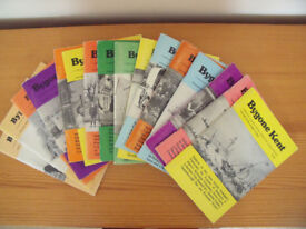 17 issues vol 7 no 3 - vol 23 no 10 BYGONE KENT local history monthly journal.£8 ovno lot or £1 each