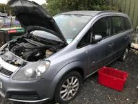 Vauxhall Zafira 2006 silver/grey BREAKING FOR PARTS