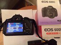 Canon EOS 600D Digital SLR Camera, Lens and Canon bag