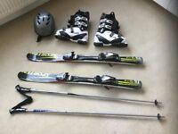 Sporten snow blades / skis with boots poles helmet