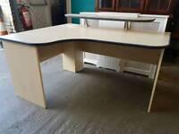 Modern beech effect corner desk