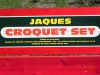 Croquet set. Jaques Edenbridge, little used hence as new condition
