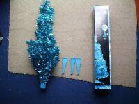 2ft Blue Tinsel Tree