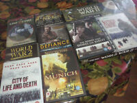 Boxed set of 8 WW2 DVDs plus group of other war DVDs. Smoke free home.