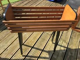 Retro wood planter dansette legs