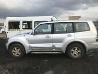 Mitsubishi Shogun di-d god diesel 3.0 automatic 2001 year spare parts breaking