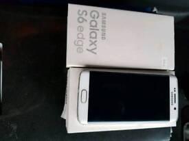 Samsung galaxy S6 edge white and chrome