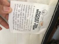 Pocket 1500 and memory foam double mattress. Used and in good condition