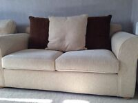 Beige Sofa Bed - Immaculate Condition