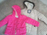 Bundle 19 pieces of girls clothes jackets trousers tops dresses 2-4 yrs (see more photos)
