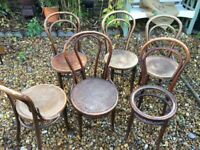 Six Mundus bentwood chairs