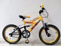 "(2751) 16"" RALEIGH KOOLMAX FS Kids Childs SUSPENSION MOUNTAIN BIKE BICYCLE; Age: 5-7, 107-122 cm"