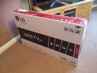 """LG43"""" 4K Smart LED TV ***BRAND NEW/BOXED/SEALED***"""