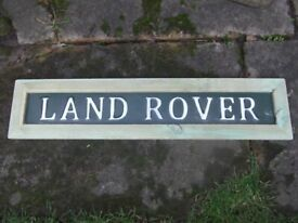 Land Rover metal rustic sign & frame (NEW)