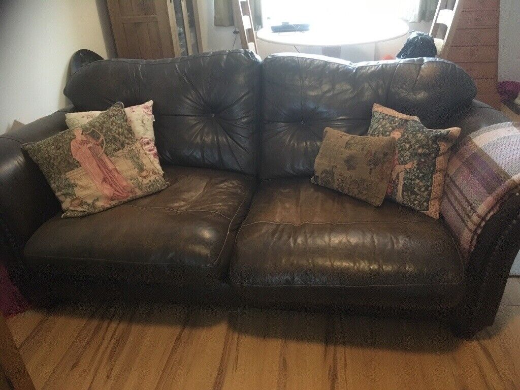 Incredible Large Two Seater Leather Sofa In Norwich Norfolk Gumtree Caraccident5 Cool Chair Designs And Ideas Caraccident5Info